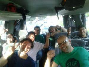 Die PAH aus Barcelona macht sich auf den Weg zum Bloc Salt. Foto von